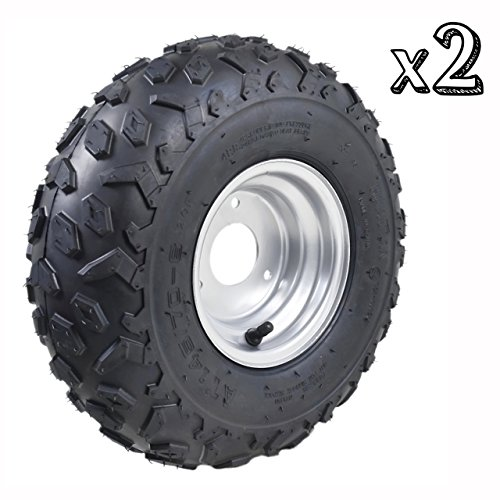 o Kart Quad Tires and Rims | 4PR Wheels (Set of 2) (6 Wheel Atv)