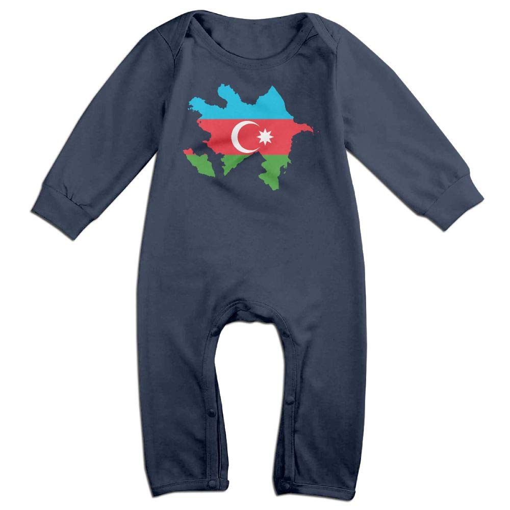 Mri-le1 Baby Boy Bodysuits Azerbaijan Flag Map Baby Clothes