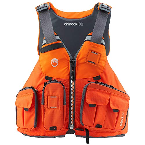 NRS Chinook OS Fishing Lifejacket (PFD)-Orange-L/XL