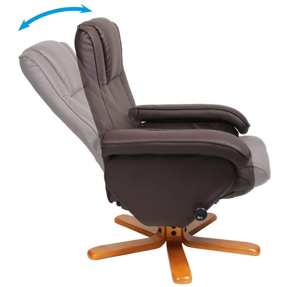 Cosmoliving Arm Chair With Foot Stool Amp Reclining Swivel