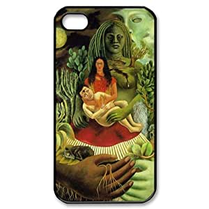 Frida Kahlo Self-portrait Painting Theme Case Cover for iPhone 4/4S - Personalized Hard Cell Phone Back Protective Case Shell-Perfect as gift