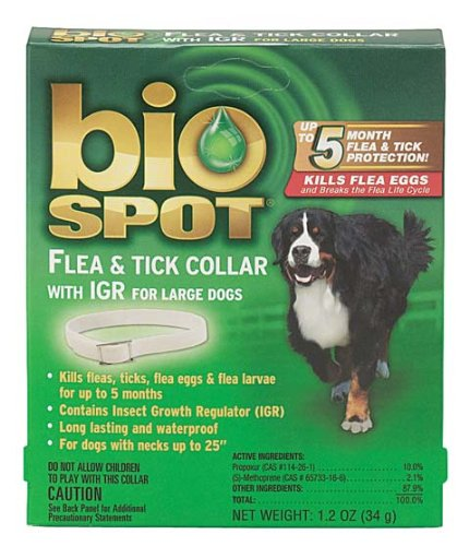 Farnam Pet-Bio Spot Flea & Tick Collar With Igr- Green Large