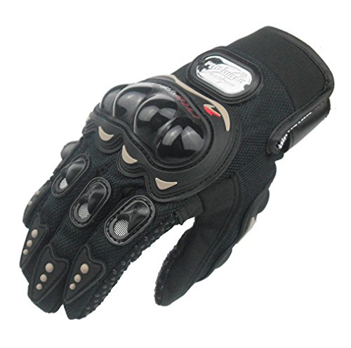 FHSom Men's Motorcycle Black Bicycle Winter Protect Warm Powersports Full Finger Racing Tactical Gloves