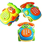 Catnew Lovely Kids Baby Sound Toys Music Car Cartoon Buttons Phone Educational Intelligence Developmental Toy