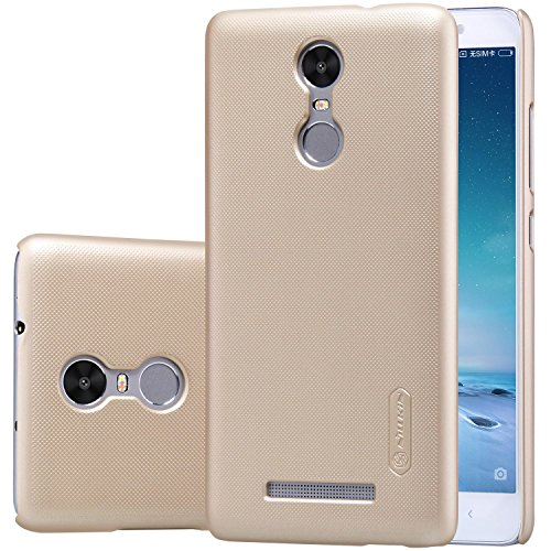 Price comparison product image Redmi Note 3 Case Nillkin Frosted Shield Matte Plastic Slim Fit Case Cover Shell for Xiaomi Redmi Note 3 (with Screen protector) (Frosted) (Gold)