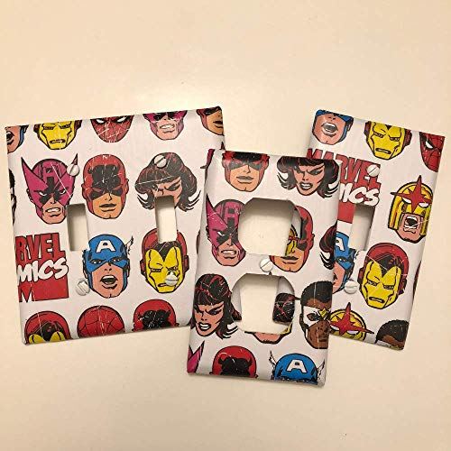 Marvel Comics Avengers, light plate cover,light switch plate, outlet cover, outlet plate, home decor (Las Americas Outlet-stores)