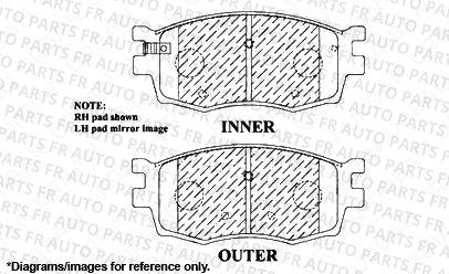 4 Semi-Metallic Pads Front Kit 2 Cross-Drilled Disc Brake Rotors High-End Fits:- 4lug