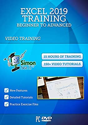 Excel 2019 Training Course by Simon Sez IT: Excel DVD Course For Absolute Beginners to Advanced Users – Excel Video Tutorials Including Exercise Files