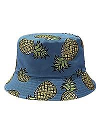 Men Women Pineapple Printing Fishermen Hat, Visor Travel Fishing Cap