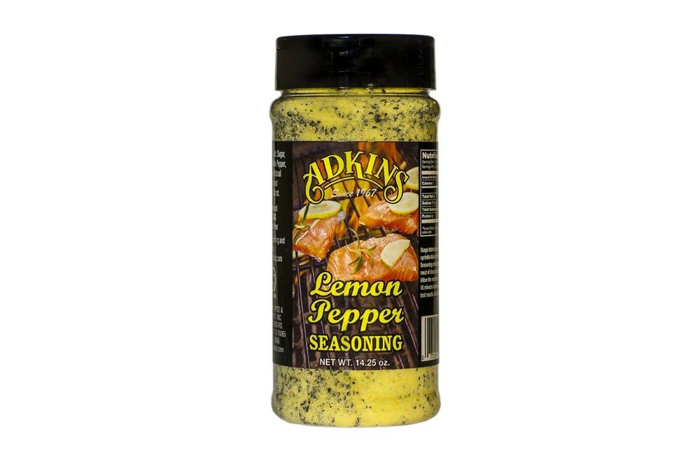 Adkins Lemon Pepper Seasoning 25 Pound Bulk Bag All Natural