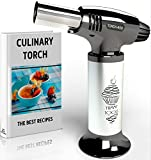 Best Culinary Torch - Chef Torch for Cooking Crème Brulee - Aluminum H