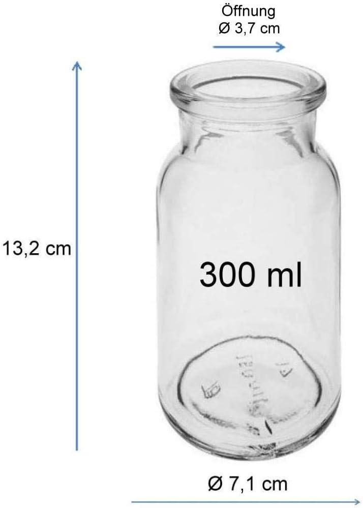Transparente Viva Haushaltswaren # 31469/# 8/Especias Redondas 175/ml con tap/ón de Corcho Incluye una Pala para Especias de Madera 7.7/x 7.7/x 9/cm