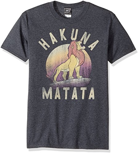 Disney Men's Lion King Simba Warrior Roar Graphic Tee, Charcoal Heather, Small