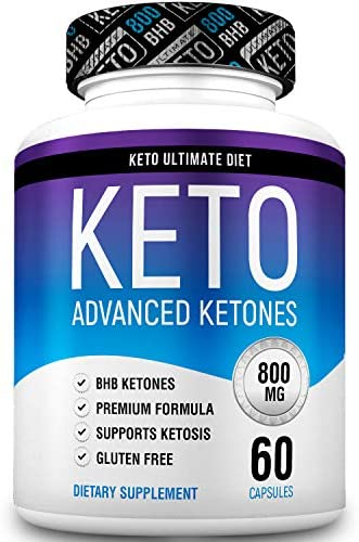 Keto Ultimate Diet – Ketogenic Diet Supplement with Beta Hydroxybutyrate Ketone Salts – Boost Energy and Metabolism – Keto Pills 60Caps