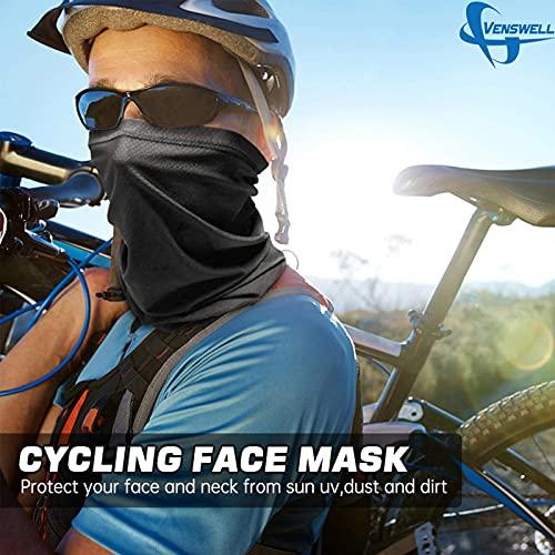 2X Summer Neck Gaiter Face Cover Mask Sun UV Reusable Face Scarf Cool Bandana