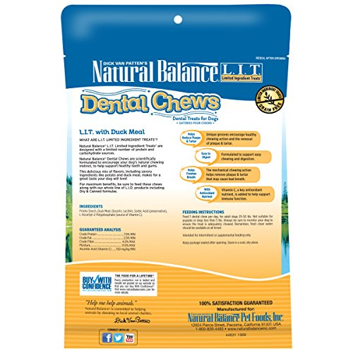 Natural-Balance-Dental-Chews-Dog-Treats-LIT-Limited-Ingredient-Treats-Duck-Meal-Formula-Grain-Free-For-Medium-Dogs-13-Ounce