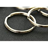 Key Ring Spring Steel, 25mm (1 Inch) - Nickel Plated, 20 Key Ring Attachments