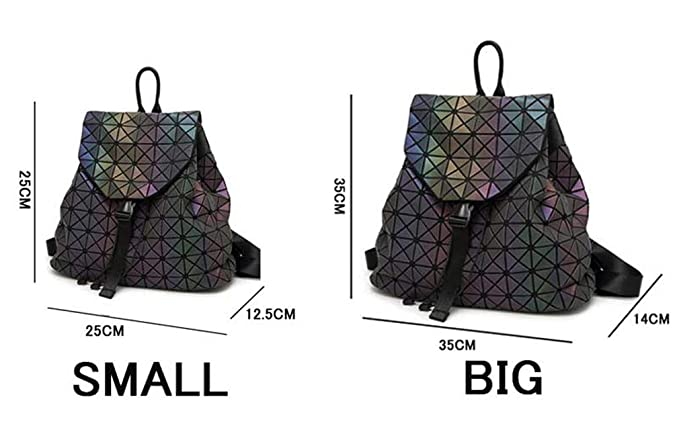 f6ce7171ecc7 Amazon.com: NJIWSS Women Laser Luminous Backpack Mini Geometric ...