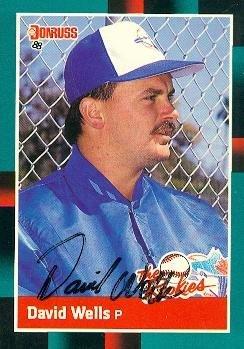 (Autograph Warehouse 104449 David Wells Autographed Baseball Card Toronto Blue Jays 1988 Donruss The Rookies No. 26 )