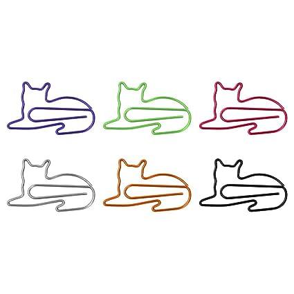 SODIAL Clips de Papel 100 Piezas Regalos para Gatos para ...