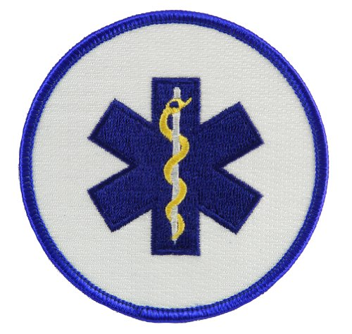 EMT EMS Star of Life Embroidered Patch Emergency Rescue Services Iron-On Ambulance