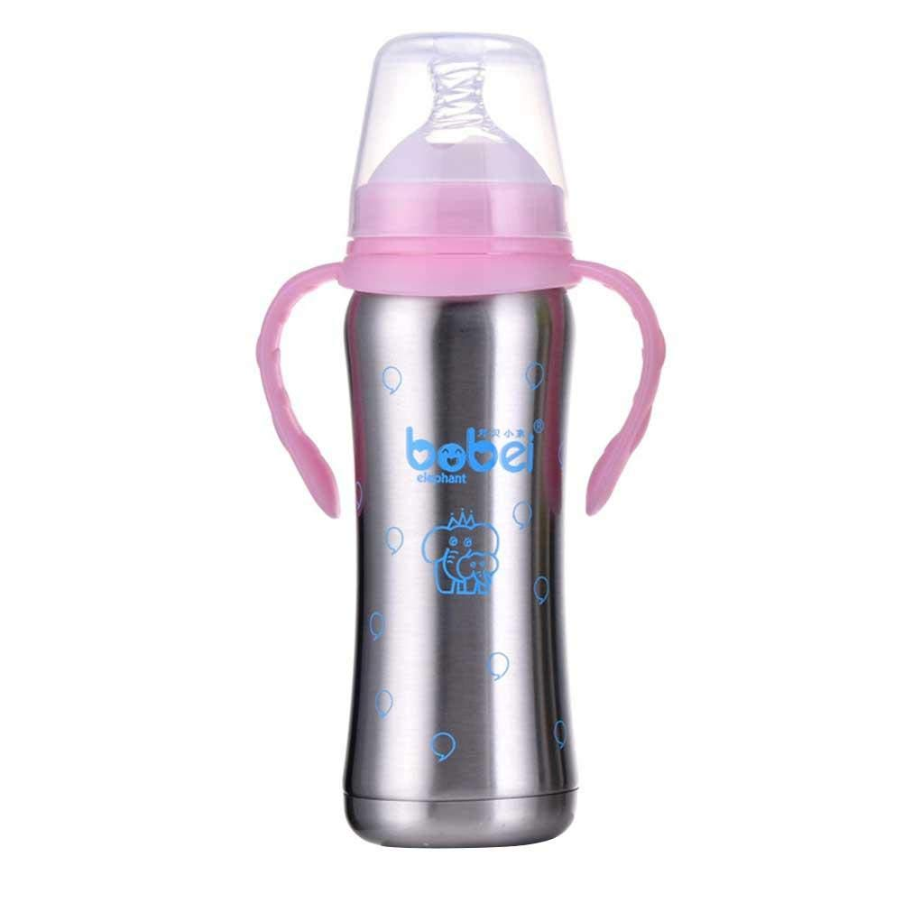 240ml Bottle Feeding Stainless Steel Toddler Sippy Bottle Multi-Purpose Baby Infant Child Insulated Bottle Rlorie-123
