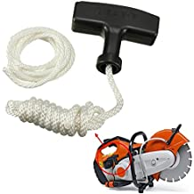 Chain Saw Strimmer Starter Recoil Pull Handle With Rope & Spare Cord