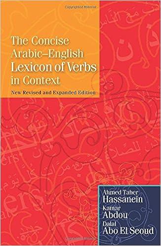 Book The Concise Arabic-English Lexicon of Verbs in Context