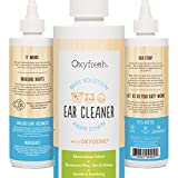 Pet Ear Cleaner with Oxygene® by Oxyfresh, 8 oz. - Gentle and Safe for All Animals - Best Mite and Infection Remedy - Swabbing not Required - Non-Irritating - Fresh Clean Ears - Made in the USA