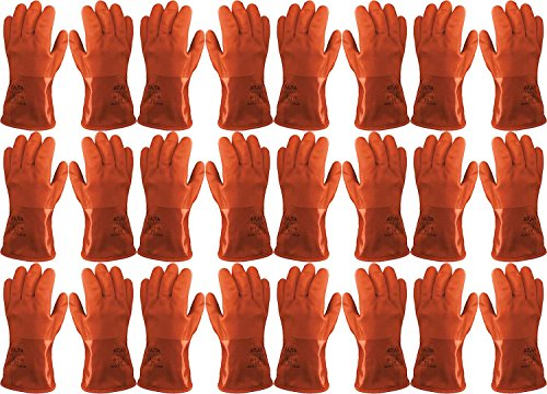 Atlas Showa - Small (24-Pair) - Cold Weather Double-Dipped PVC Freezer Work Gloves with Insulated Acrylic Liner & Rough Grip - Orange - 460 by Atlas (Image #1)