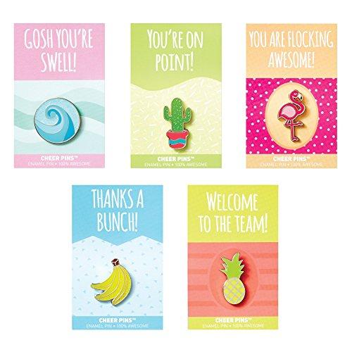Baudville Motivational Good Vibes Lapel Pin Bundle - Employee Appreciation Gifts - 100% -