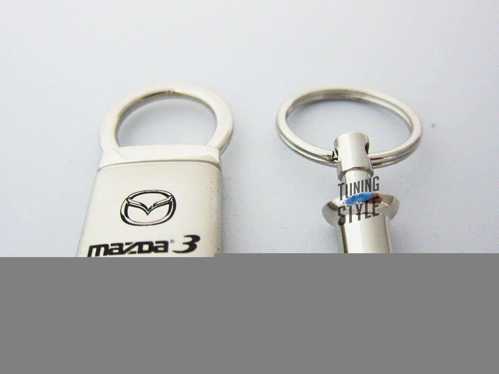 Mazda3 Mazda 3 Satin-Chrome Valet Key Fob Authentic Logo Key Chain Key Ring Keychain Lanyard Au-TOMOTIVE GOLD