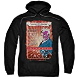 Batman Two Faces Adult Pull-over Hoodie M
