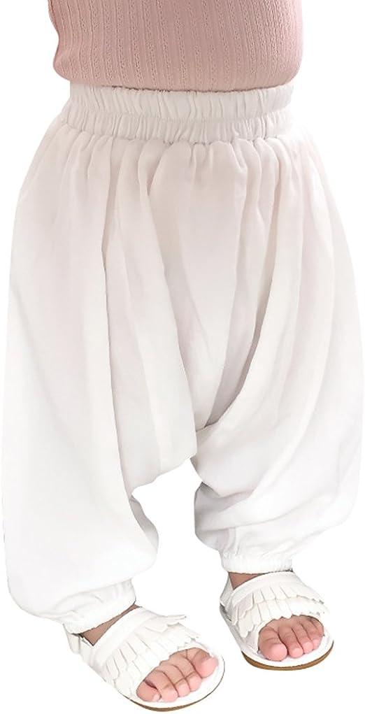 beautyjourney Pantalones Harem Holgados de ni/ños ni/ñas Disfraz de Danza del Color s/ólido Pololos Pantalones Deportivos de Yoga Pantalones Harem Pantalones Casuales