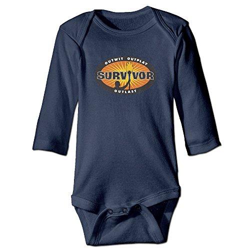 [PERDES Baby Girls Boys Survivor Sign Romper Jumpsuit 18 Months Navy] (Blue Ghost Pill Costume)
