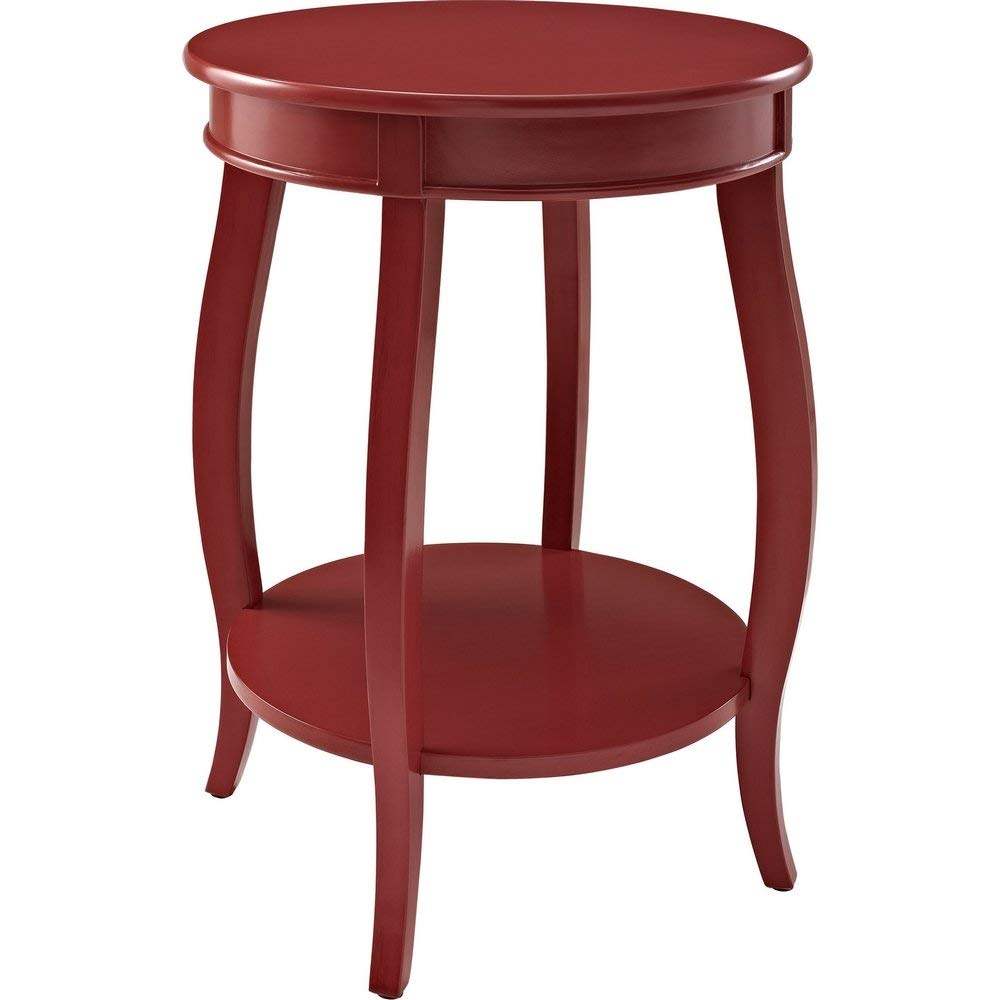 Powell's Furniture 471-350 Powell Round Shelf, Red Table,