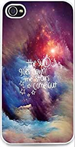 Case For Iphone,iphone 5S of Hard Case **NEW** High Quality Unique are Design christian quotes the sun or goes downthe stars cone out scar