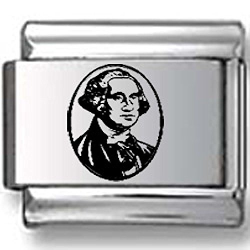 George Washington Laser Italian Charm
