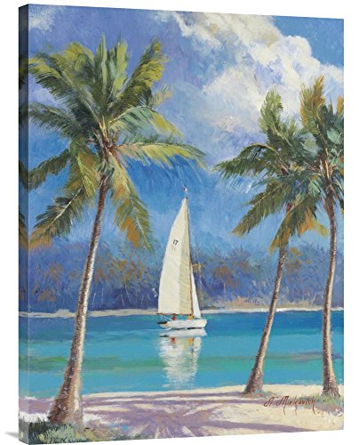 Global Gallery Budget N. Mirkovich Island Breeze Gallery Wrap Giclee on Canvas Print Wall ()