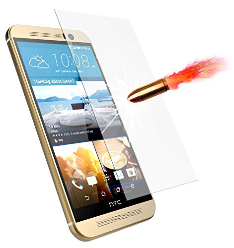 HTC M9 Screen Protector, E LV HTC One M9 ANTI-SHATTER Tempered Glass Screen Protector Scratch Free Ultra Clear HD Screen Guard for HTC One M9