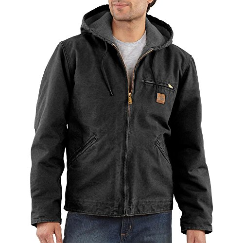 Extremes Carhartt Active Jacket (Carhartt Men's Big & Tall Sherpa Lined Sandstone Sierra Jacket J141,Black,XXX-Large)