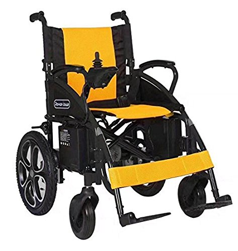 ectric Wheelchair - Foldable Lightweight Best Heavy Duty Lithium Battery Electric Power (YELLOW) (Foldable Power Wheelchair)