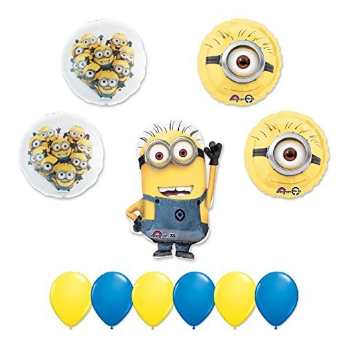 DESPICABLE ME 2 MINIONS 11 pc PARTY Extension Balloon Kit by Anagram]()