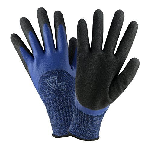 Double Dipped Glove - West Chester 713BLDD S Double Dipped Glove, Small, Blue Black (Pack of 12)