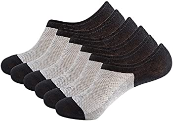 3-Pack HYVIBY Mens No Show Low Cut Socks