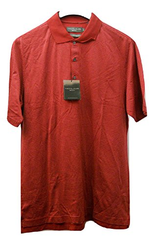 Jack Nicklaus Golf Double Mercerized Cotton Men's Polo Shirt Size M Red Polka Dots