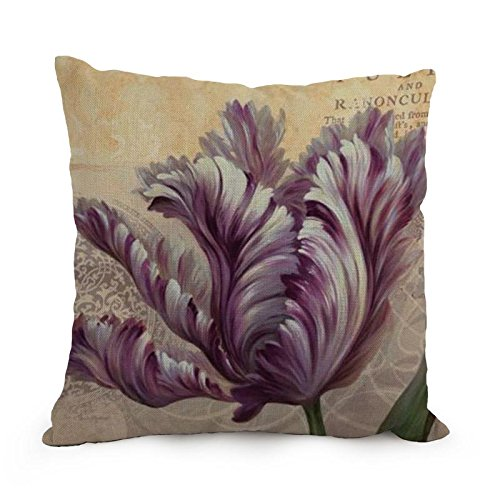 Artistdecor Throw Pillow Covers Of Flower Art 18 X 18 Inches / 45 By 45 Cm,best Fit For Son,birthday,boy Friend,couch,valentine,girls Twice Sides