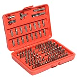 BephaMart 100pcs Chrome Vanadium Security Screwdriver Tamperproof Torx Hex Bit Set W/ Case
