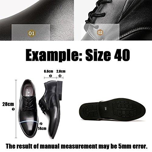 Comfort Scarpe da Formale Leisure Casual Moda Black Pelle Abbinare Business in Uomo Abbigliamento Scarpe Morbido Derma RBS78