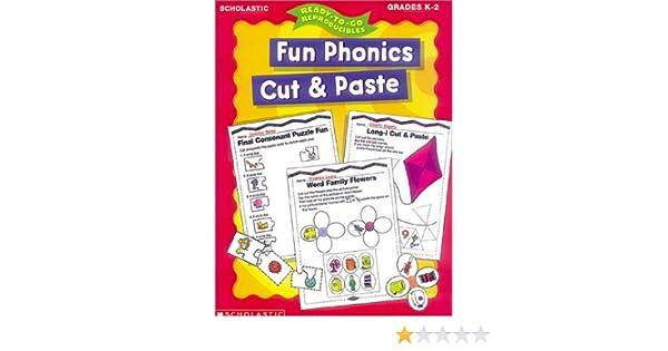 Amazon.com: Fun Phonics Cut and Paste (Ready-to-Go Reproducibles ...